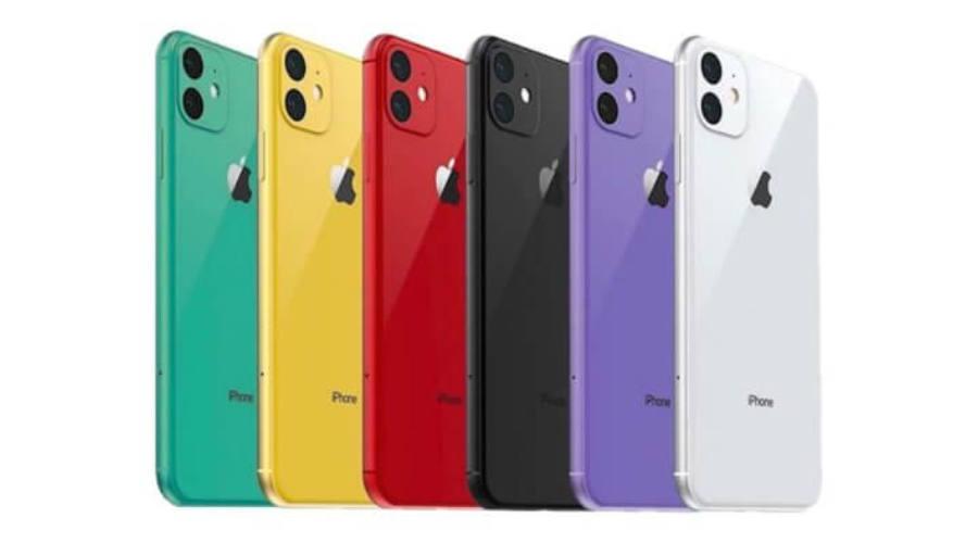 iPhone-ok különféle színben